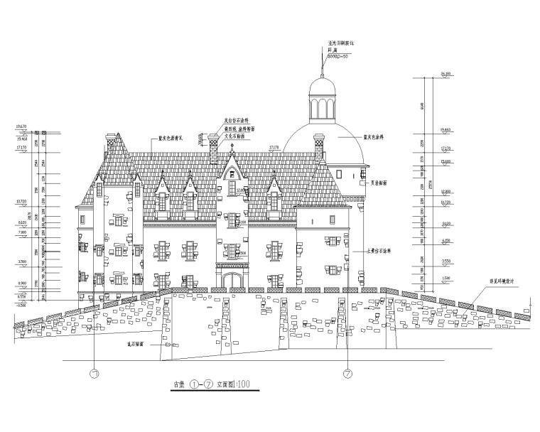 特色园林景观建筑设计施工图-古堡02-Model