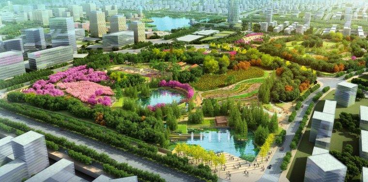 [安徽]含山县山体高差森林公园修建性详细规划设计A-3效果图