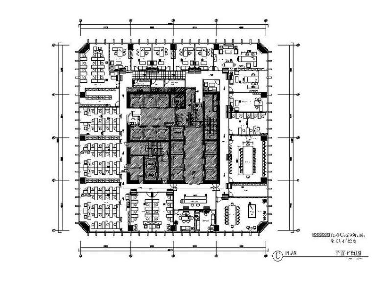 [大连]地产公司办公室精装修设计施工图