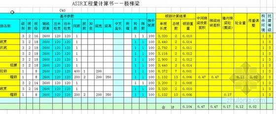 建筑工程工程量计算函数表(楼梯)