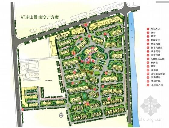 [上海]北美风格花园住宅小区景观设计方案