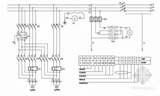 5.5KW变频泵一、二次电气原理图