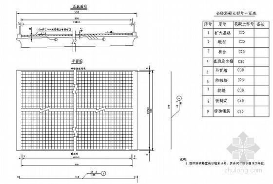 6m钢筋混凝土预制板桥面铺装钢筋节点详图设计