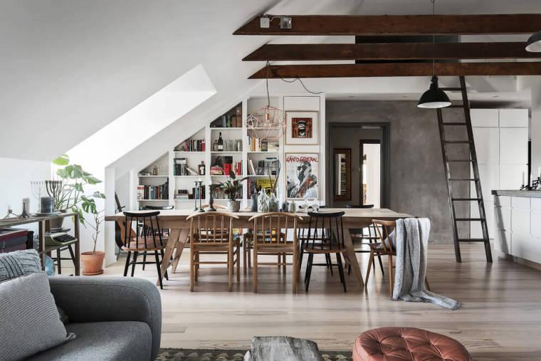 瑞典高格调的阁楼公寓-101738q0asecu1a6qcvamm
