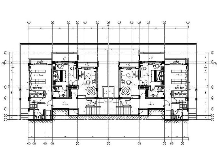 [重庆]酒店式现代豪华别墅室内设计施工图