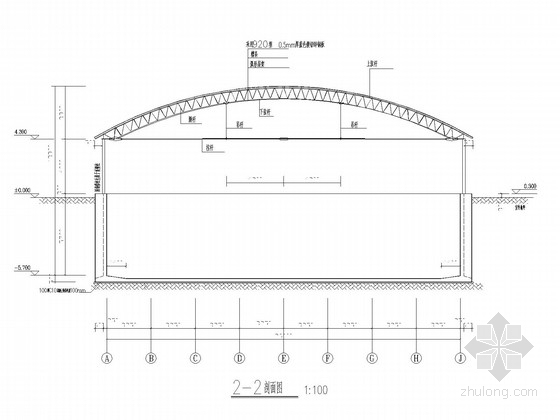 钢结构罩棚水池结构施工图(含建施)