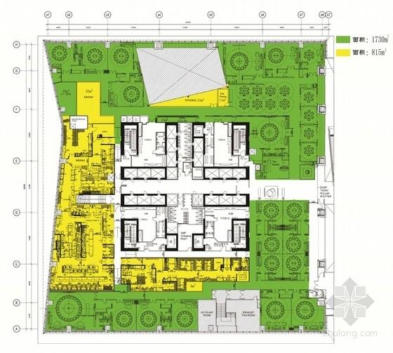 [北京]金融中心现代中式风格二星级餐厅设计方案