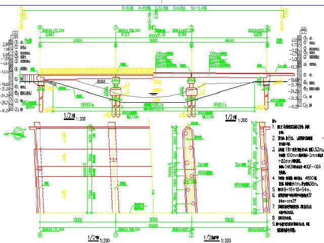上海预应力18m空心板梁桥设计图28张CAD附计算书30页