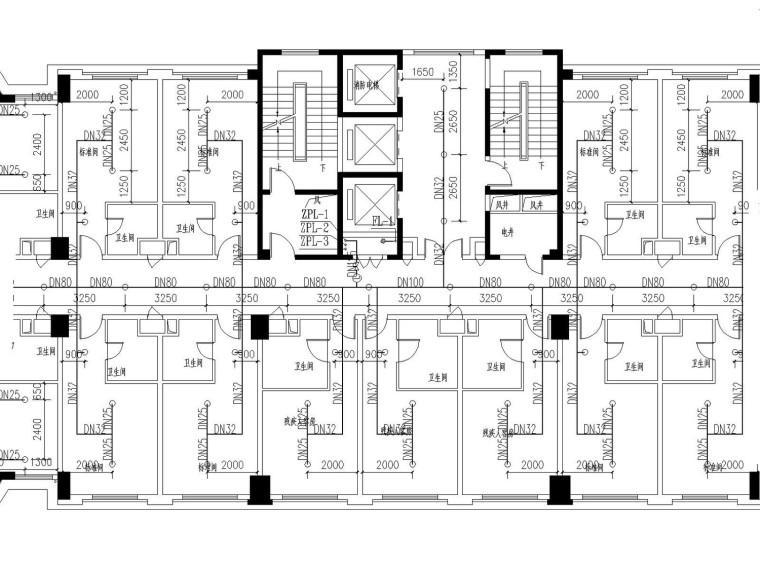 [江西]高层酒店给排水消防施工图设计(含计算说明书)