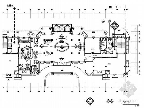 [成都]豪华四层商务会所室内装修图(含方案文本)