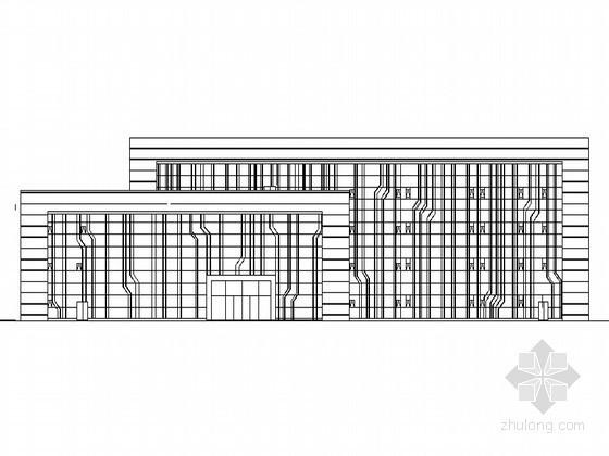[绵阳]某电力公司现代风格四层办公楼建筑施工图