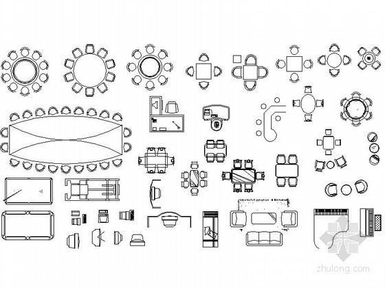 室内家具图库CAD图块下载