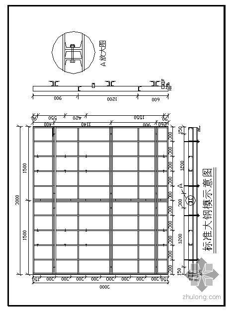 淄博某高层商住楼模板施工方案(竹胶合板、组合钢模板、砖胎模)