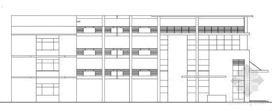 某物流公司办公楼宿舍楼建筑施工图