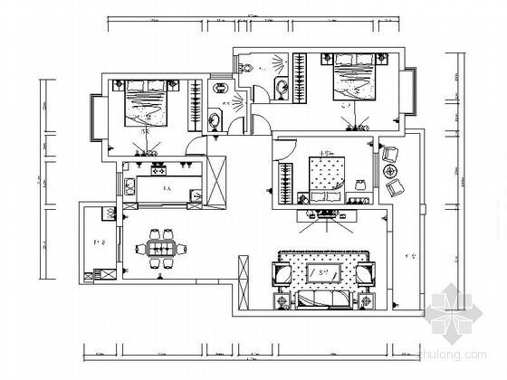 现代三居室装饰装修图(含效果)