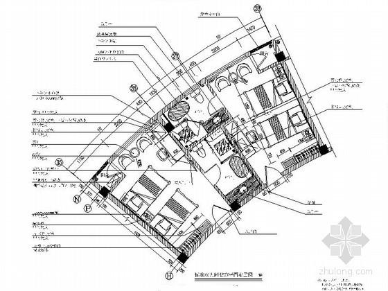 现代客房标准双人间装修图