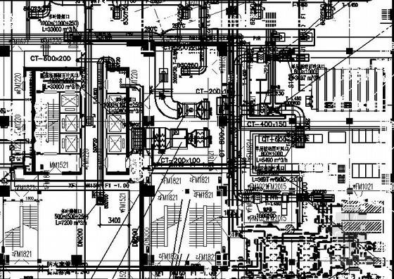 [宁夏]超级商业综合体暖通空调全套设计施工图纸184张(详细设备参数 甲级设计院)
