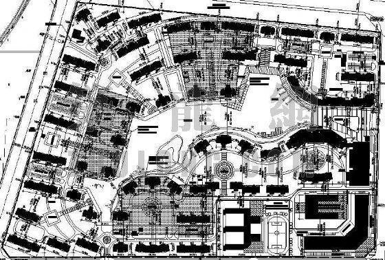 一套优秀的住宅小区规划总平面图