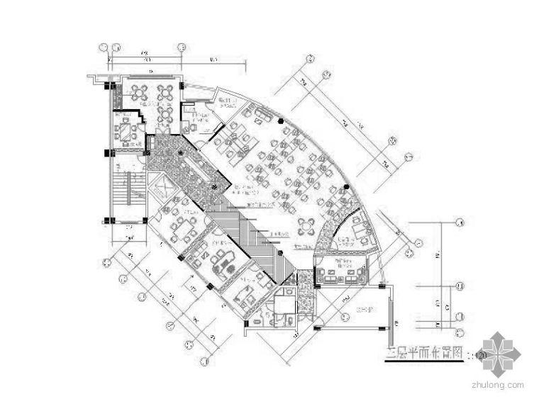 某企业办公楼休闲大堂设计图赏析