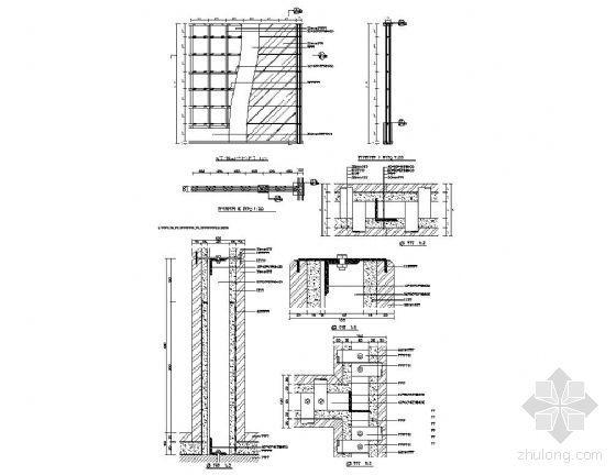 石材墙体湿挂结构详图
