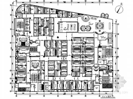 [深圳]某超豪华量贩式KTV室内装修施工图(含效果)