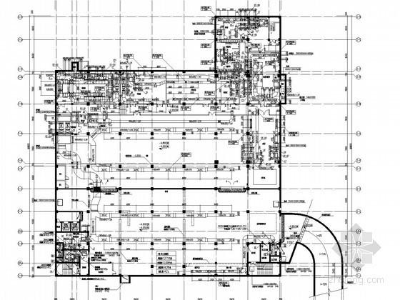 [上海]公共办公建筑空调通风防排烟系统设计施工图(含燃气设计)