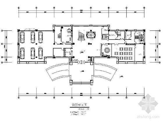 某办公楼平面装修设计图