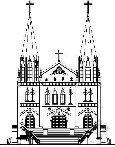 [哥特风格]教堂建筑方案图