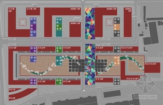 现代风格商务住宅规划布局图