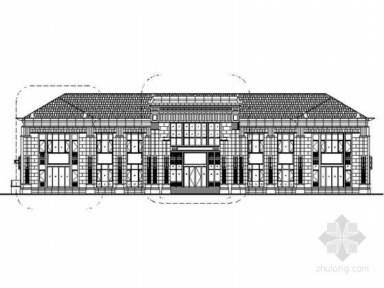 [山东]2层知名房地产售楼处建筑设计施工图