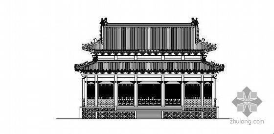 [山东]某寺庙古建群建筑方案图