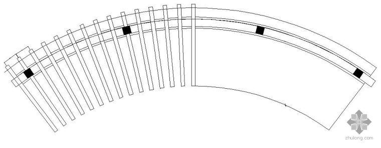 弧形花架施工详图
