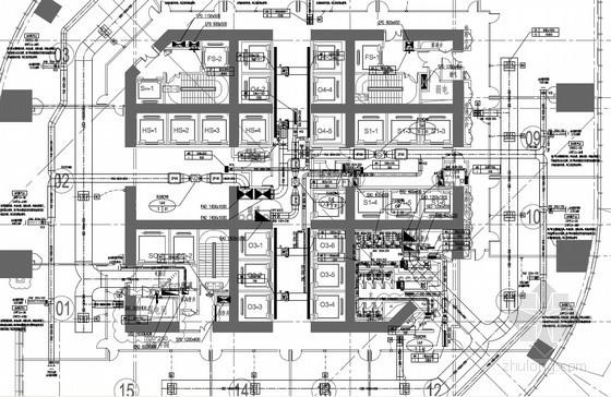[江苏]410米商业综合体空调通风及防排烟设计图(含动力设计 暖通配电)