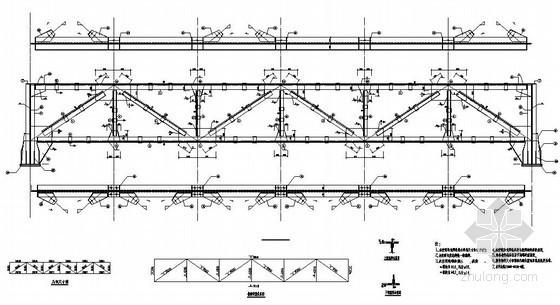某89米钢桁架走廊结构施工图