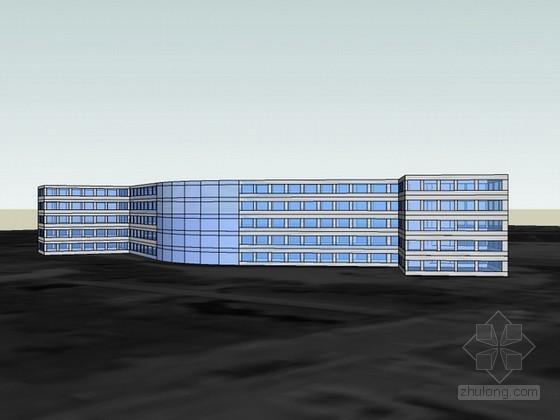 宿舍楼sketchup模型下载