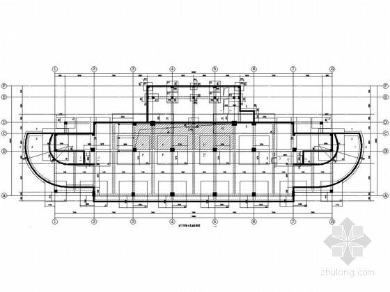 [浙江]八层框架结构运动员指挥训练中心结构图