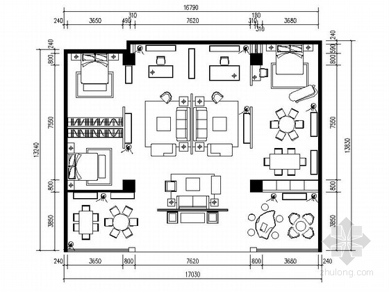 [甘肃]现代知名家具卖场装饰装修工程CAD施工图(含效果图)