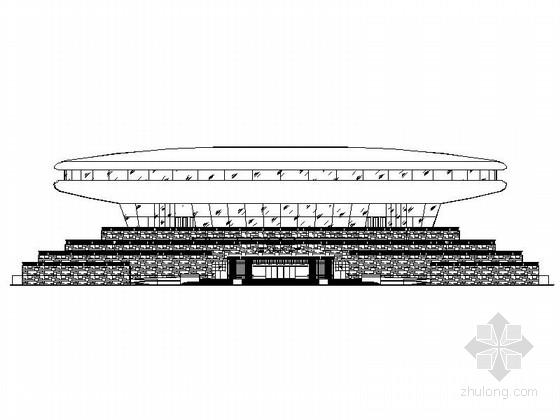 [河南]圆形高层文化演艺中心建筑设计施工图(2015年图纸知名设计院)