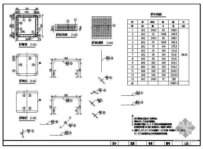 2x2箱涵cad设计图纸