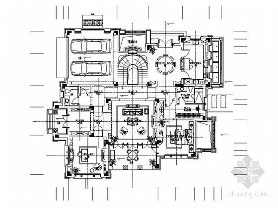 [浙江]豪华美式风格两层别墅样板房室内装修施工图(含实景效果图 推荐!)