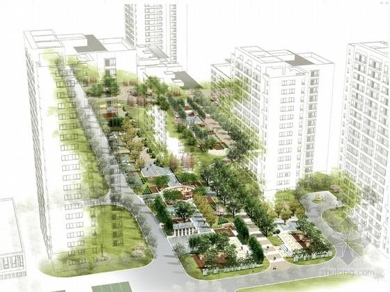 [沈阳]现代单身青年住宅景观设计方案