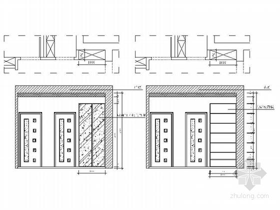 [浙江]海滨公园现代高档两居室装修施工图过道立面图