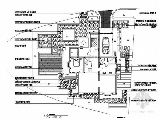 别墅庭院环境景观工程施工图