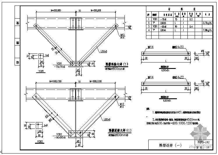 某钢结构支撑图集节点构造详图