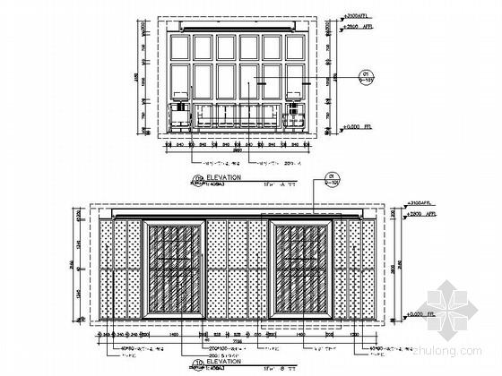 [新疆]2000平海洋主题餐厅室内装修施工图(含实景效果图)-[新疆]2000平海洋主题餐厅室内装修施工图包间立面图