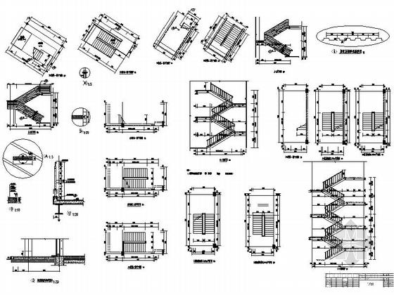 [河南]两层奔驰汽车4S店建筑施工图(甲级设计院)-两层奔驰汽车4S店建筑大样图