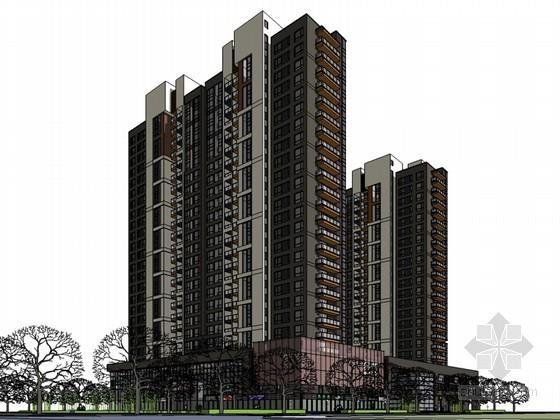 高端住宅建筑SketchUp模型下载-高端住宅建筑