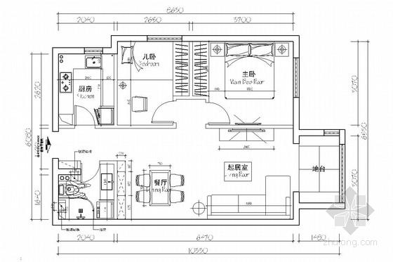 [北京]交通便利成熟配套商圈小区现代风格一居室装修图(含效果图)