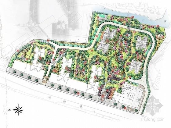 """[湖北]""""水韵东方""""现代中式风格居住区景观规划设计方案"""