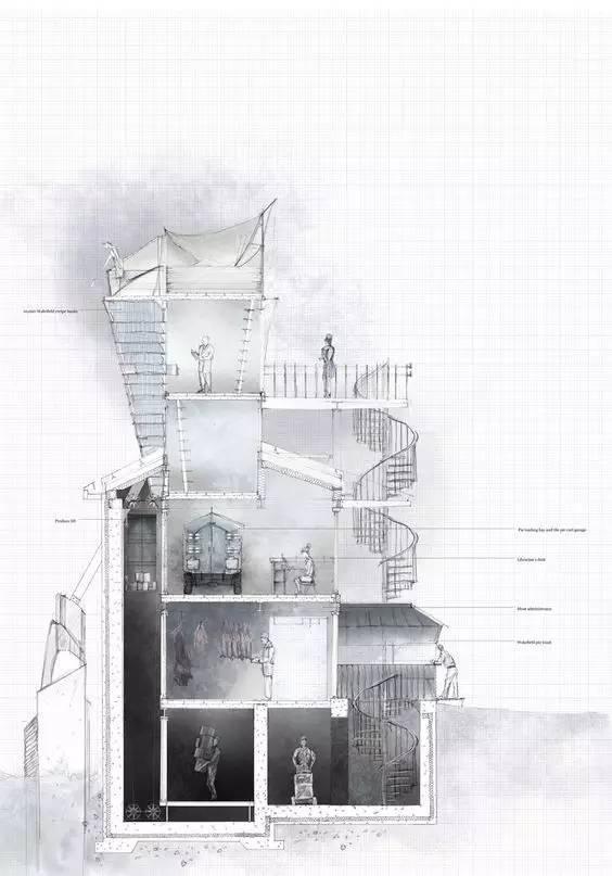 那些霸气的建筑剖面图_19